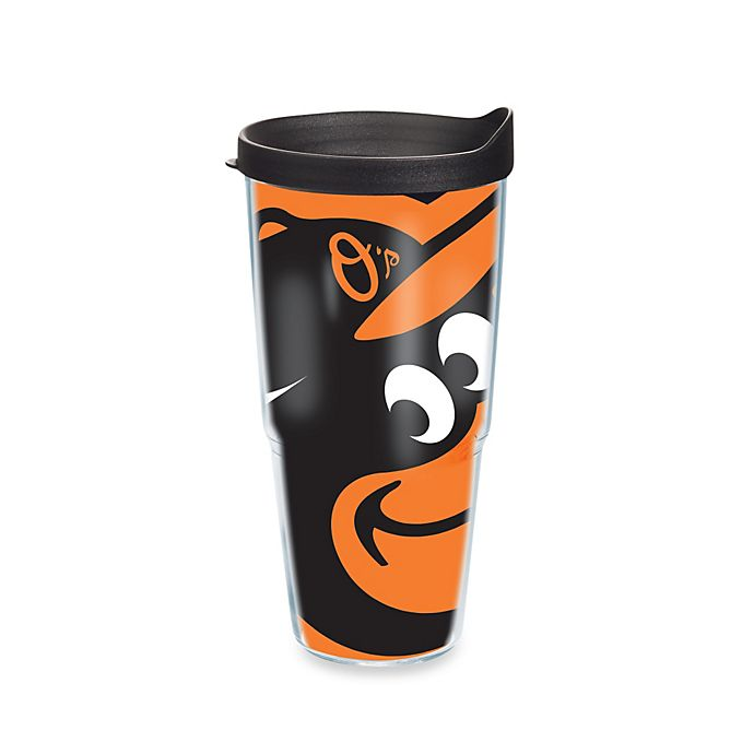 Alternate image 1 for Tervis® Baltimore Orioles 24-Ounce Wrap Tumbler with Black Lid
