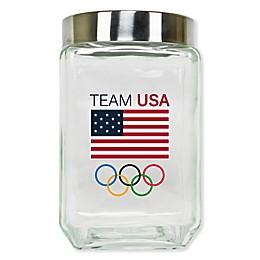 Olympics Team USA Glass Canister