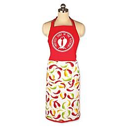 MU Kitchen™ Chili Peppers Chef Apron