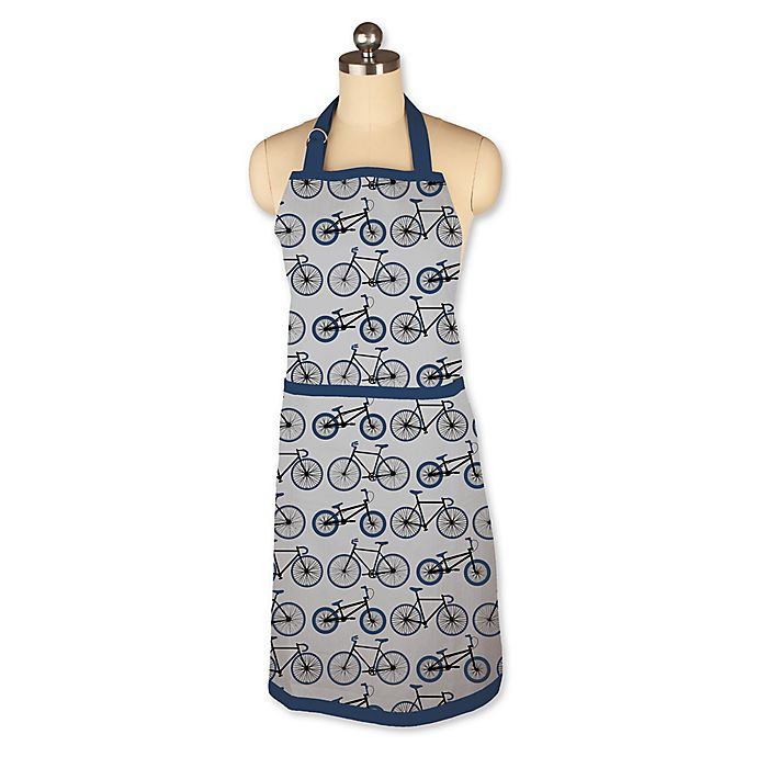 Mu Kitchen: MU Kitchen™ Biking Chef Apron In Blue