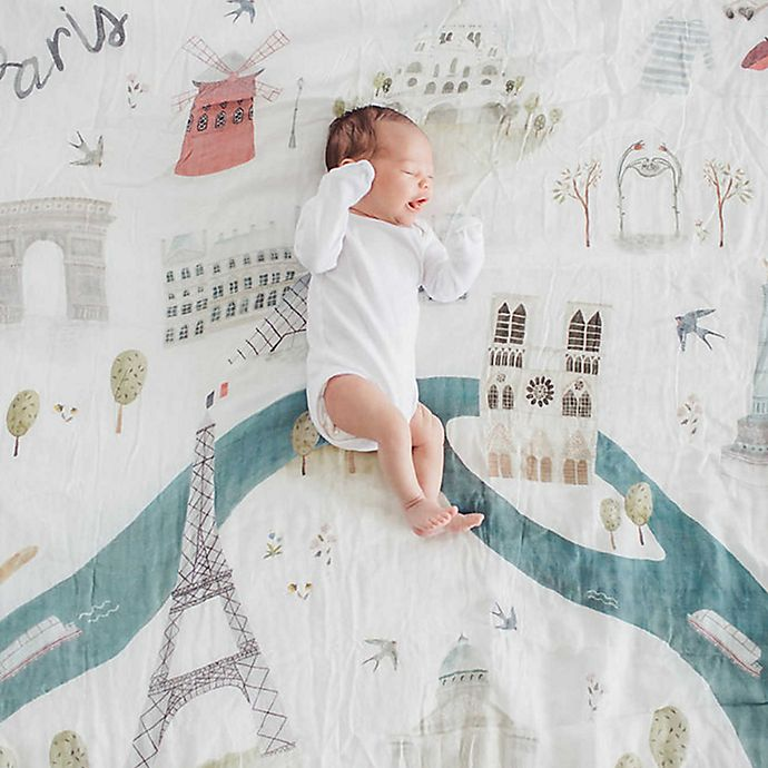 Alternate image 1 for Loulou Lollipop  Paris Muslin Swaddle Blanket