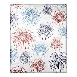 Designs Direct Fireworks Pattern Throw Blanket
