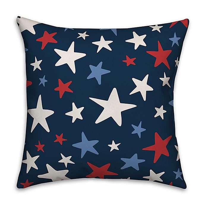 Alternate image 1 for Red White and Blue Stars 18x18 Throw Pillow
