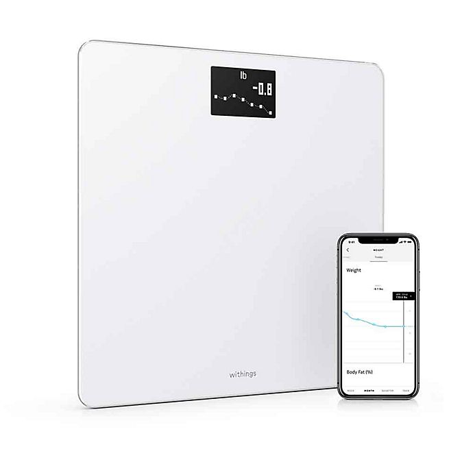 Alternate image 1 for Withings Body  Weight, BMI & Wi-Fi Smart Scale with Smartphone App