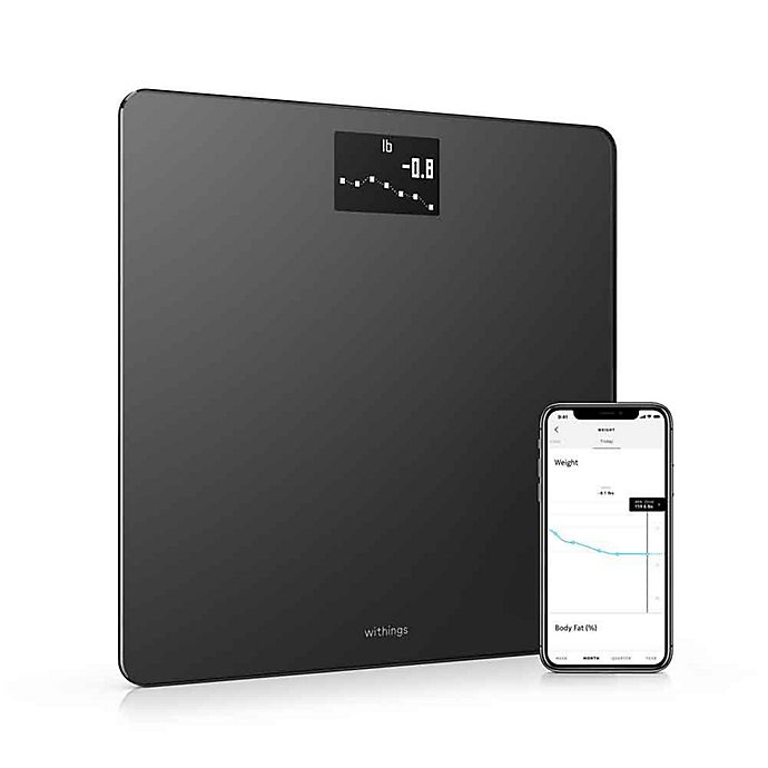 Alternate image 1 for Withings Body  Weight, BMI & Wi-Fi Smart Scale with Smartphone App in Black