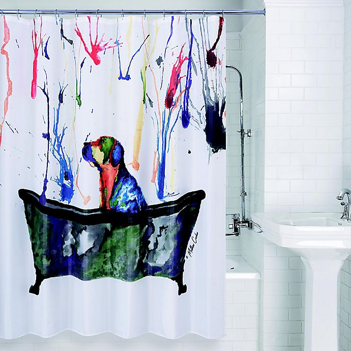 Alternate image 1 for Allure Home Creation Tub Dog Shower Curtain