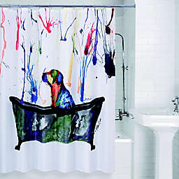 Allure Home Creation Tub Dog Shower Curtain