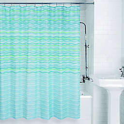 Allure Home Creation Zig Zag Dots Shower Curtain