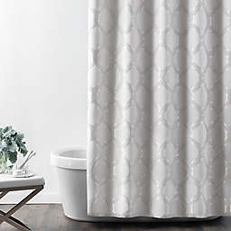 Croscill® Gwynn Shower Curtain in Silver
