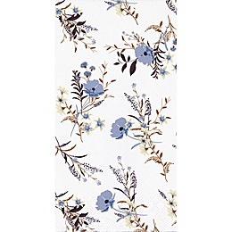 Purple Floral 32-Count Paper Guest Towels