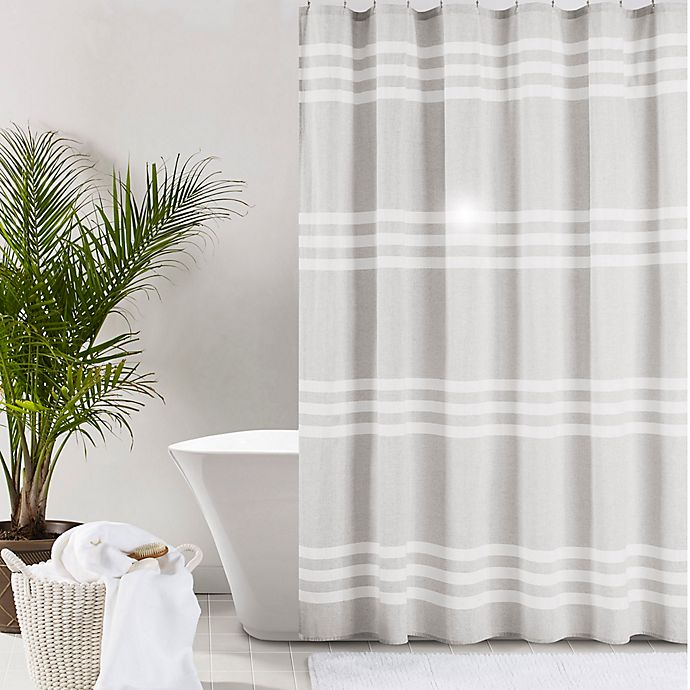 Alternate image 1 for UGG® Riley Stripe Shower Curtain
