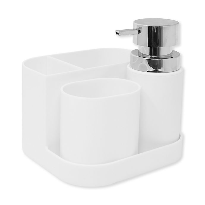 Alternate image 1 for 4-Piece Bath Ensemble Set in White