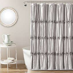 Rosettes Shower Curtain in Grey