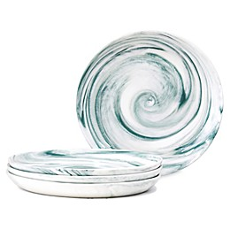 Artisanal Kitchen Supply® Coupe Marbleized Appetizer Plates (Set of 4)