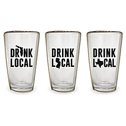 Wild Eye Designs® Drink Local Pint Glass Collection
