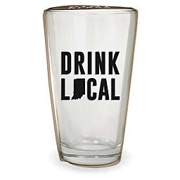 Wild Eye Designs® Drink Local Indiana Pint Glass
