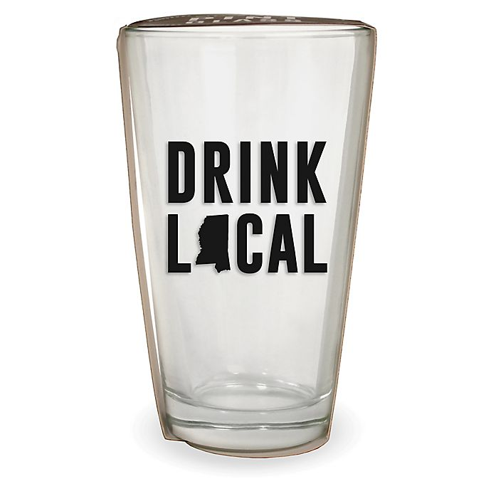Alternate image 1 for Wild Eye Designs® Drink Local Mississippi Pint Glass