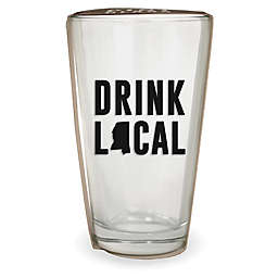 Wild Eye Designs® Drink Local Mississippi Pint Glass