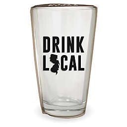 Wild Eye Designs® Drink Local New Jersey Pint Glass