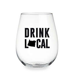 "Wild Eye Designs® ""Drink Local"" Pennsylvania Stemless Wine Glass"