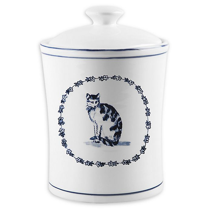 Alternate image 1 for Home Essentials & Beyond Molly Hatch Vintage Farm Cat Covered Canister