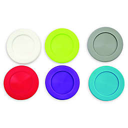 True 6-Piece Slip-On Silicone Coaster Charm Set