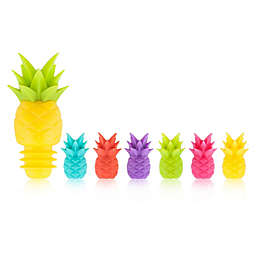 True 7-Piece Tropic Drink Charm and Bottle Stopper Set