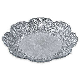 Classic Touch Trophy Flower Plates in Silver (Set of 4)