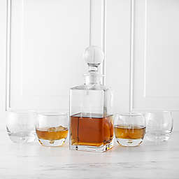 Cathy's Concepts 5-Piece Square Whiskey Decanter Set