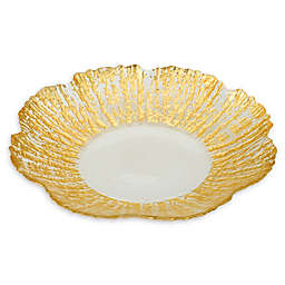 Classic Touch Trophy Flower Plates in Gold (Set of 4)