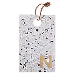 "Artisanal Kitchen Supply® Terrazzo Monogram Letter ""N"" Cheese Board"