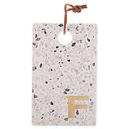 "Artisanal Kitchen Supply® Terrazzo Monogram Letter ""F"" Cheese Board"