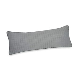 Downtown Company Urban Quilted Cotton Oblong Pillow in Quarry Grey