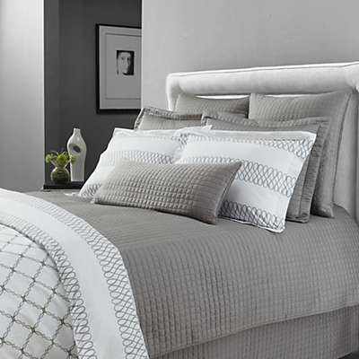 Downtown Company Urban Quilted Cotton Coverlet Set in Quarry Gray