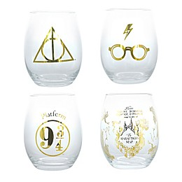 Harry Potter™ Stemless Wine Glasses (Set Of 4)