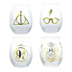 Harry Potter™ Stemless Wine Glasses (Set Of 4)