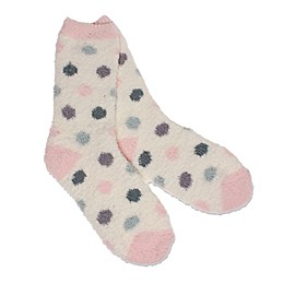 Dot Butter Women's Size 9-11 Sock in Ivory