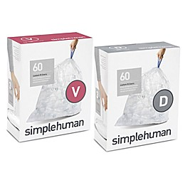 simplehuman®  60-Count Custom Fit Clear Recycling Liners Collection