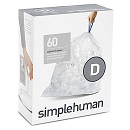 simplehuman® Code D 60-Count 20-Liter Custom Fit Clear Recycling Liners