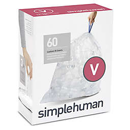 simplehuman® Code V 60-Count 16-18-Liter Custom Fit Clear Recycling Liners