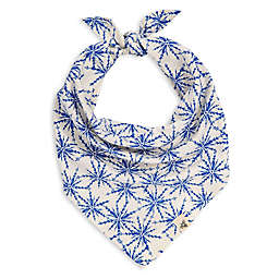 Burt's Bees Baby® Icy Snowflakes Organic Cotton Dog Bandana in Blue/Ivory