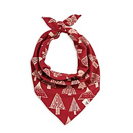 Burt's Bees Baby® Festive Forest Dog Bandana in Red/Ivory