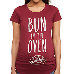 Motherhood Maternity® Bun in the Oven Maternity T-Shirt in Burgundy