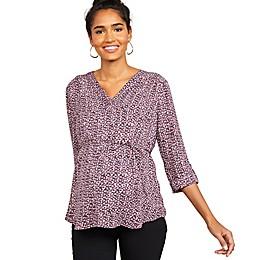 Motherhood Maternity® Drop Shoulder Convertible Sleeve Maternity Top in Purple