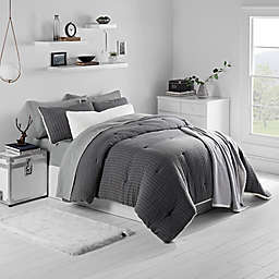 UGG® Harley Reversible Twin Duvet Set in Grey