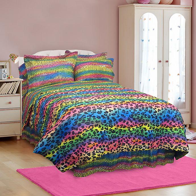 Veratex Rainbow Leopard Comforter Set   Bed Bath & Beyond