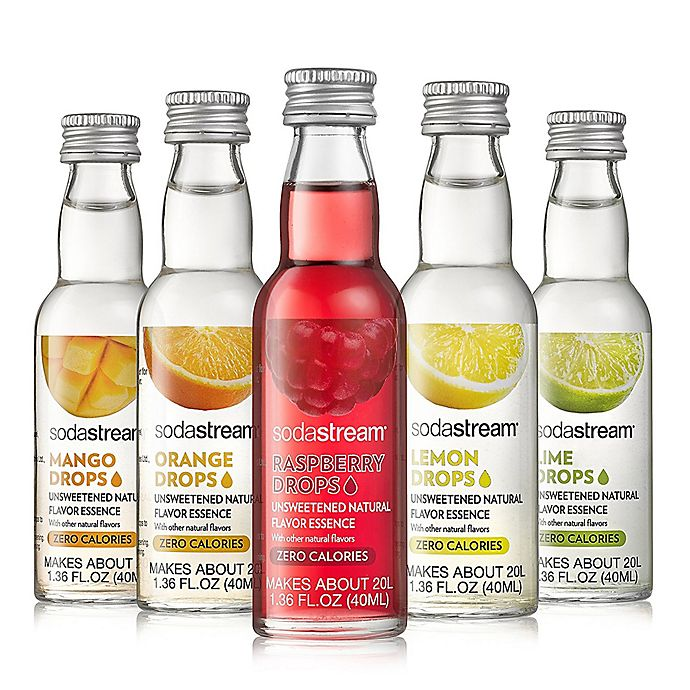 Alternate image 1 for SodaStream® 5-Piece Unsweetened Fruit Drops Variety Pack