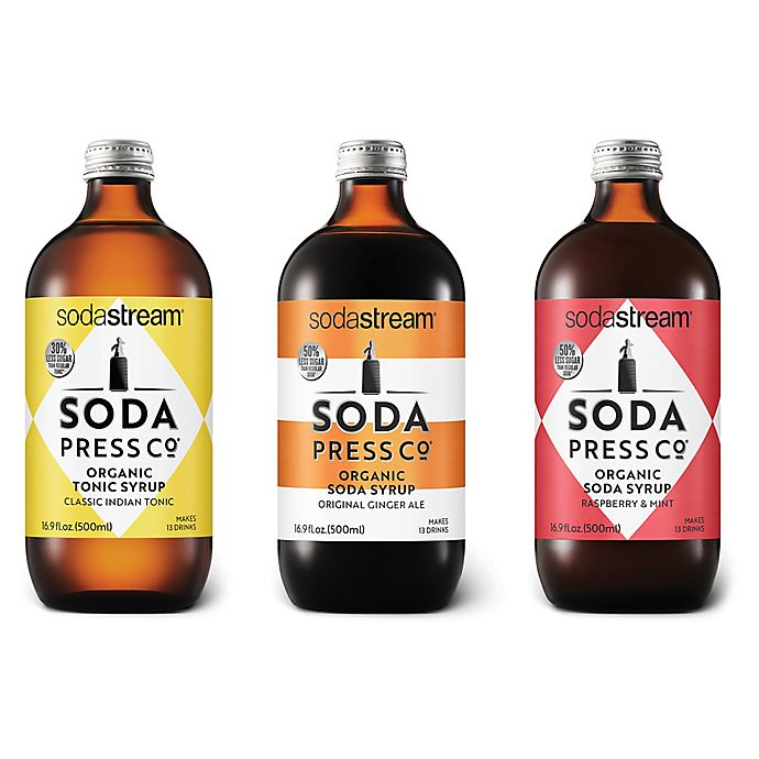 Alternate image 1 for SodaStream® Soda Press 3-Piece Craft Mixers Variety Pack