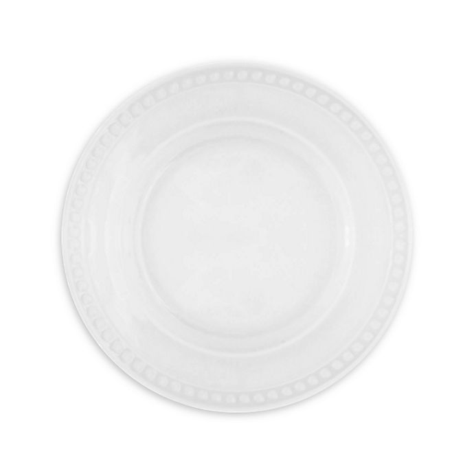 Alternate image 1 for Everyday White® by Fitz and Floyd® Beaded Salad Plates (Set of 4)