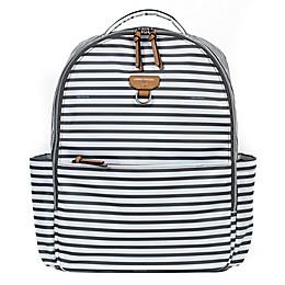 TWELVElittle On-the-Go Backpack Diaper Bag in Grey/White Stripe